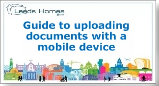 Guide to uploading documents with a mobile device